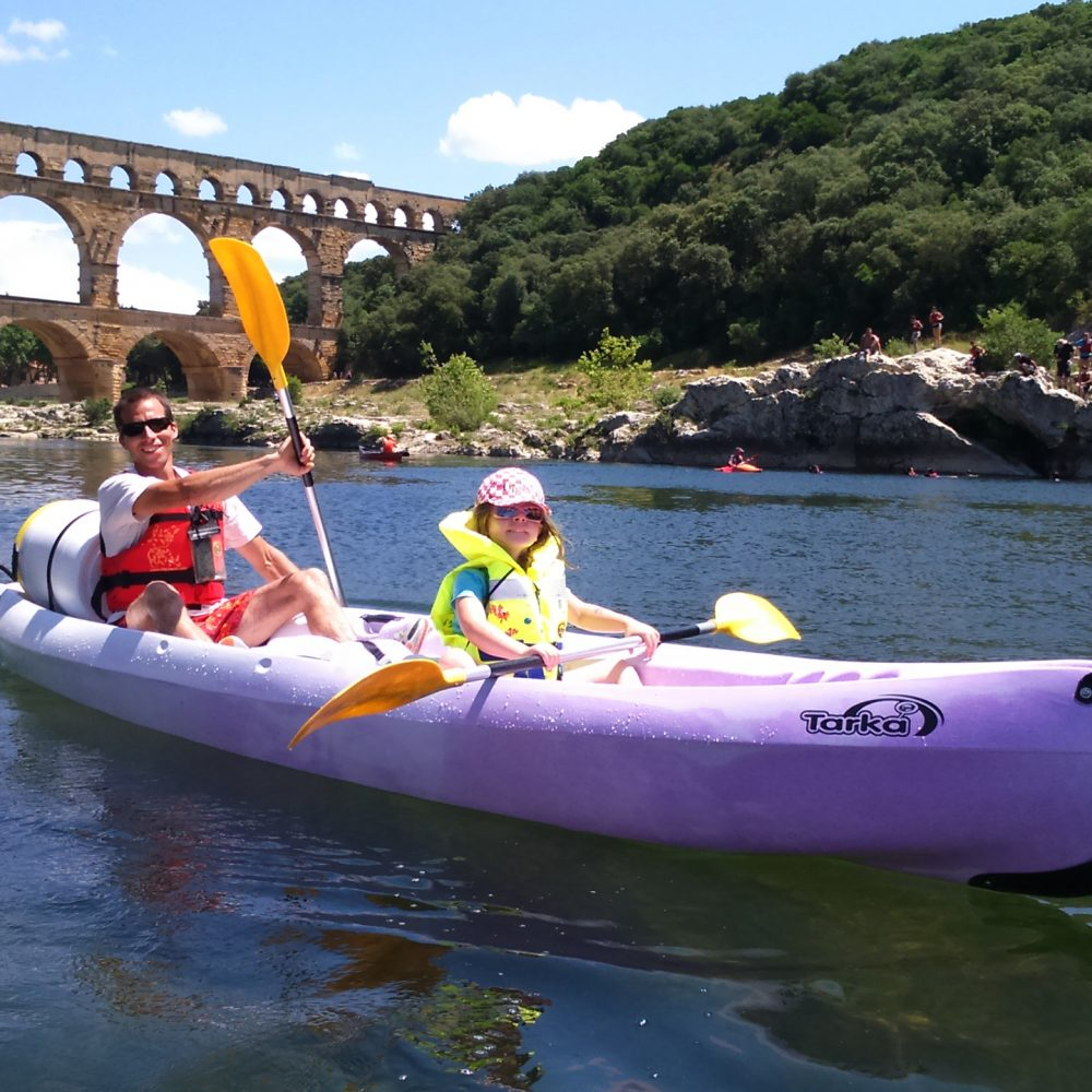 location canoë kayak Pont du Gard