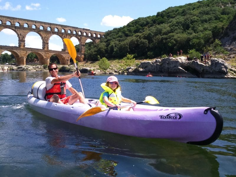 Location canoë kayak Collias-Pont du Gard
