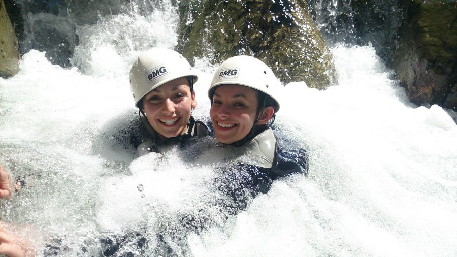 Bain canyoning remous