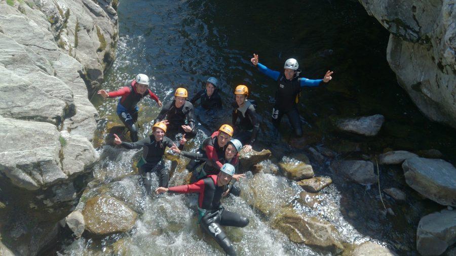 Canyoning groupe