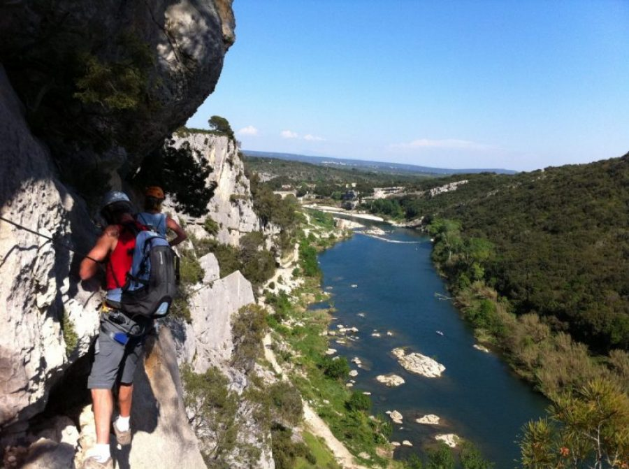 Via ferrata sur le Gardon