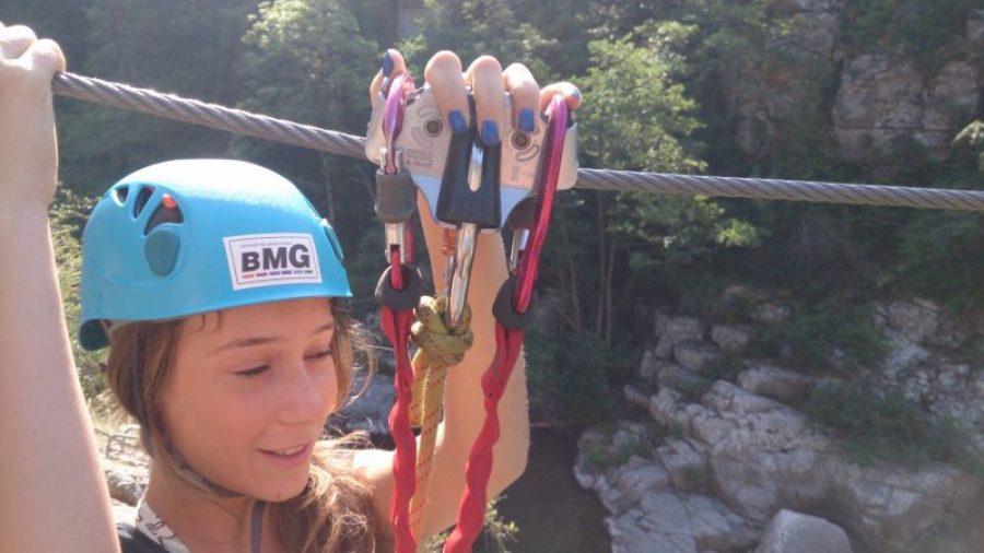 Parcours aventure avec tyrolienne