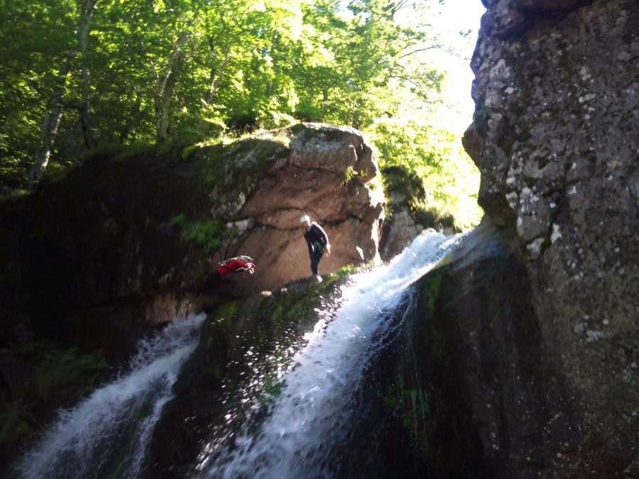 Passage des canyons avec protection